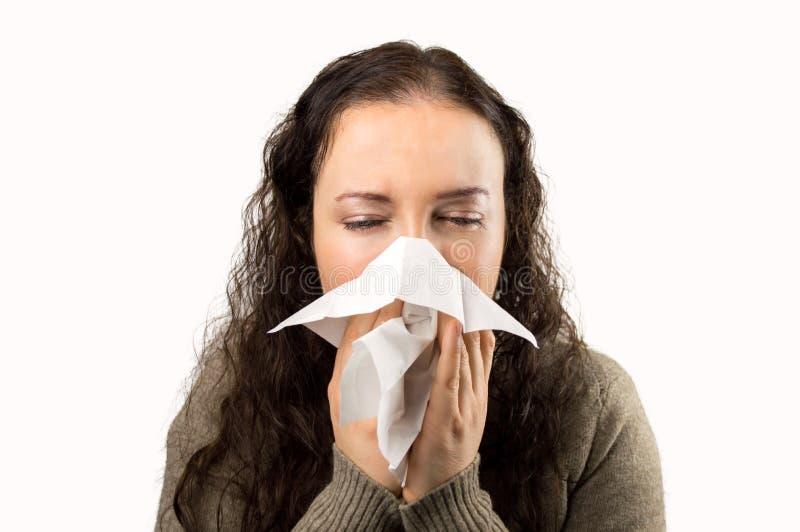 Flu and sneezing royalty free stock image