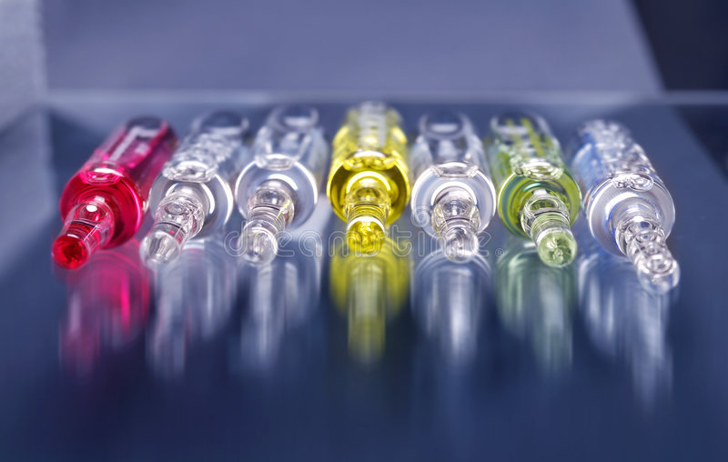 Flu vaccine stock photography