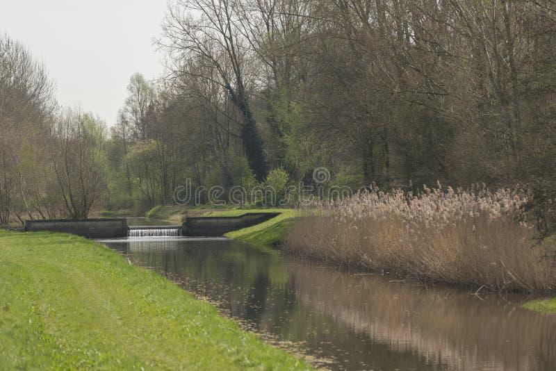 Flua o Slingebeek nos Países Baixos fotografia de stock royalty free