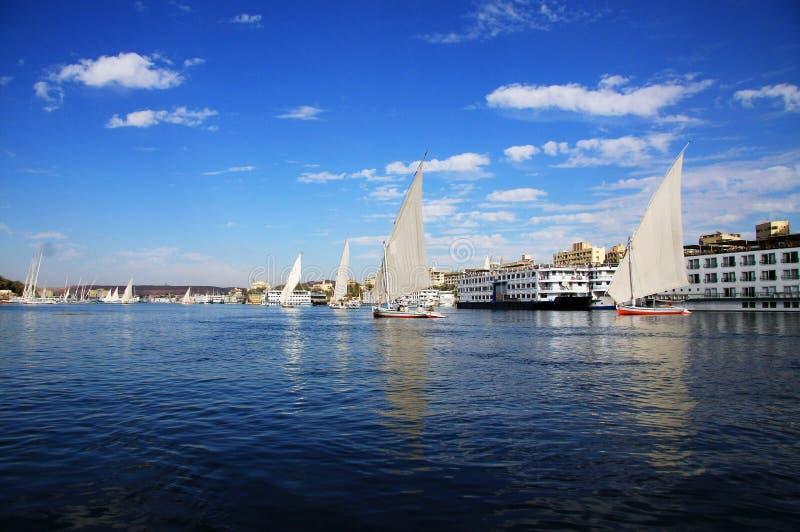 Fluca sul fiume di Nilo fotografia stock libera da diritti