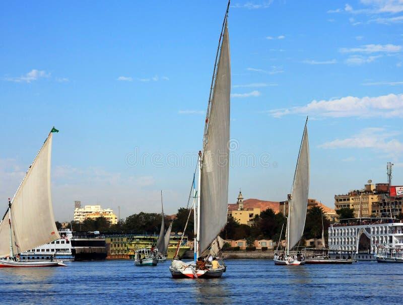 Fluca sul fiume di Nilo fotografie stock
