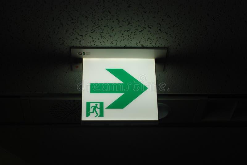 Fluchtwegzeichen stockfotografie
