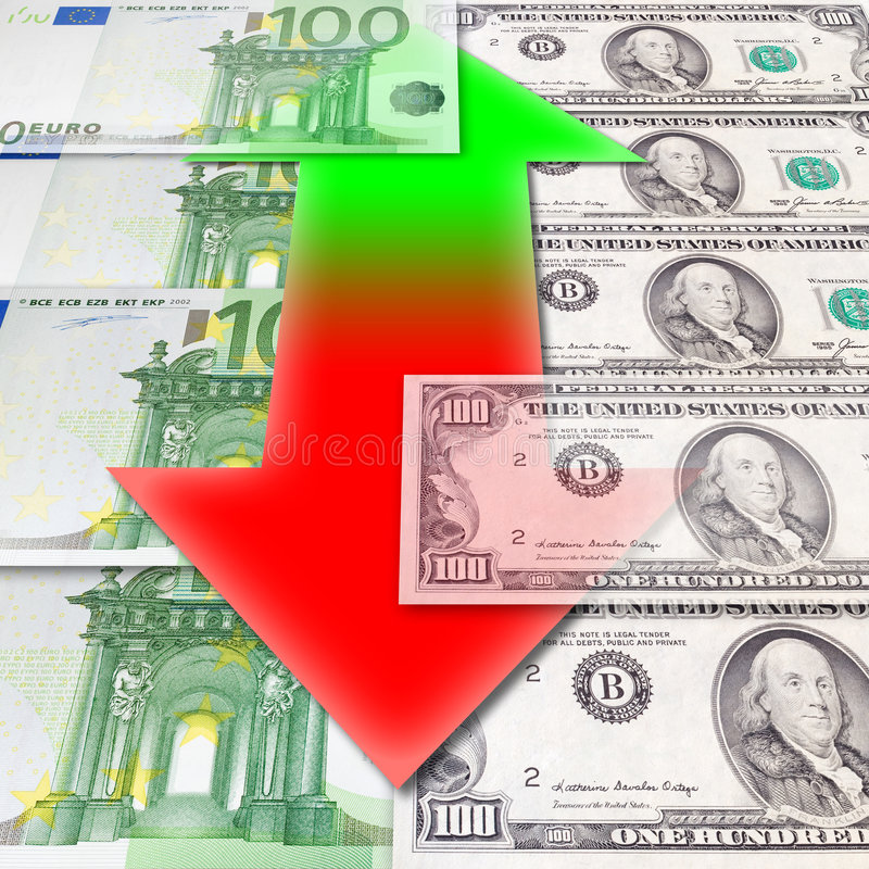 Fluctuations Of Exchange Royalty Free Stock Photo