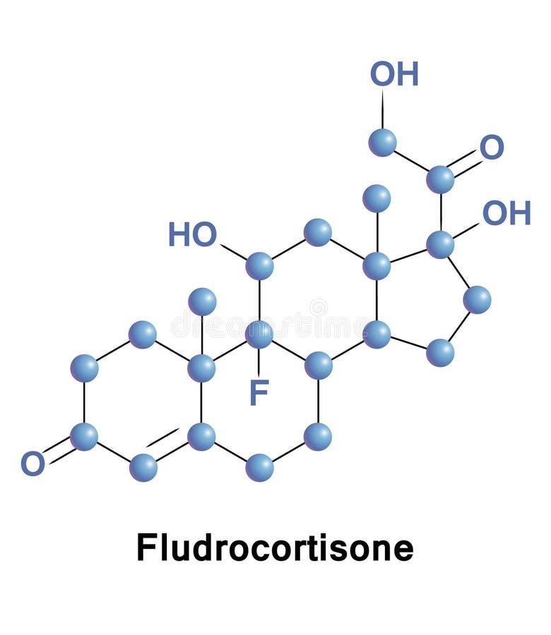 Fludrocortisone es un corticosteroide stock de ilustración