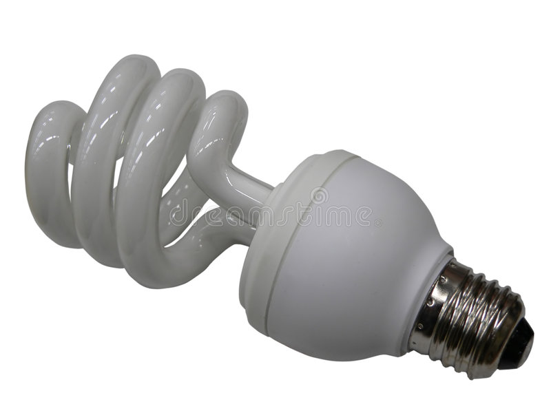 Fluerescent lamp bulb stock photos