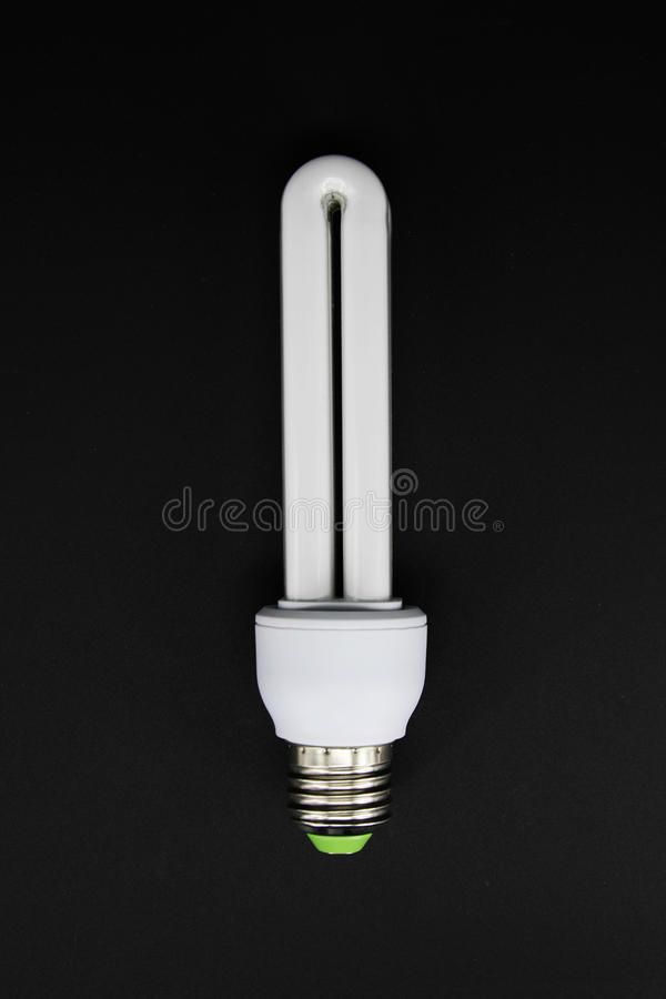 Fluerescent lamp bulb. On isolated background royalty free stock images