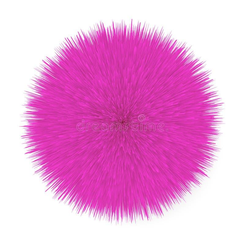 Fluffig hårboll stock illustrationer