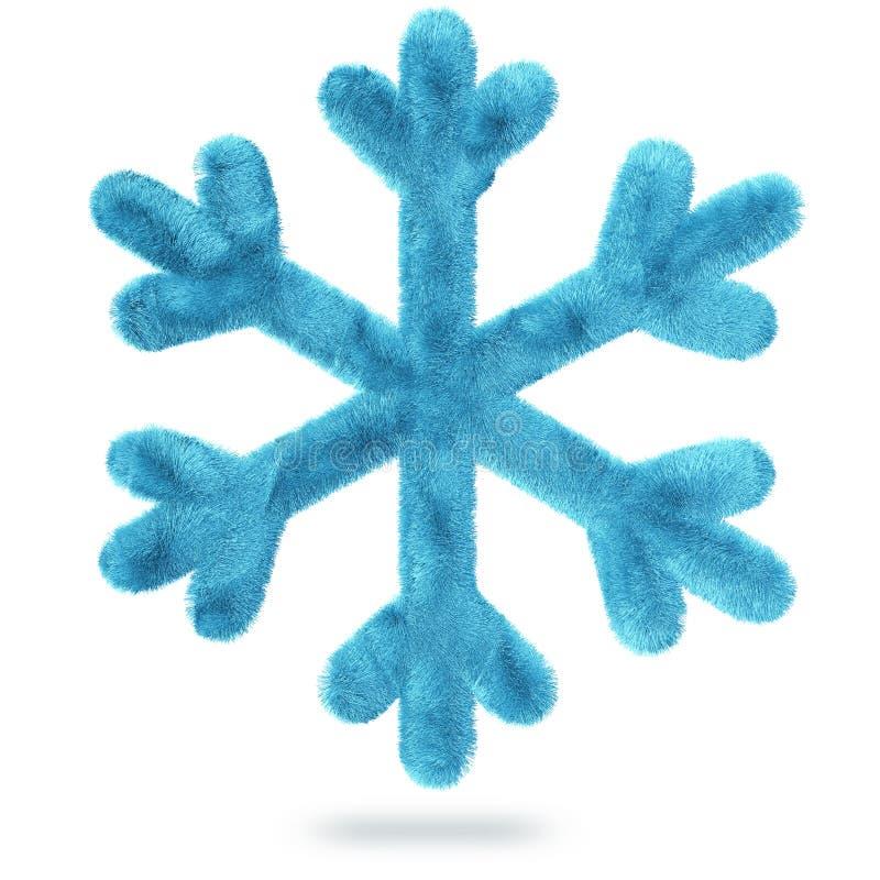 Fluffig snöflinga vektor illustrationer