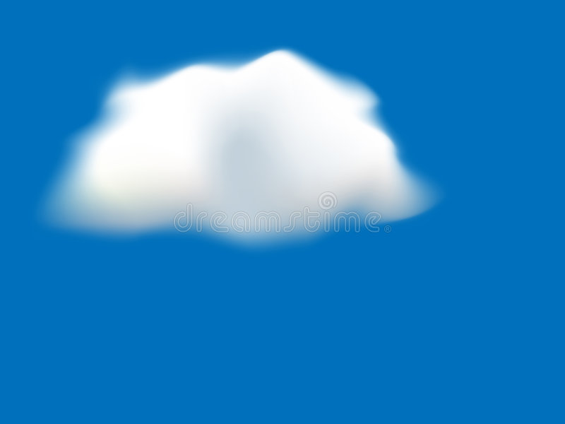 Download Fluffy Cloud Background stock vector. Image of design - 8520342
