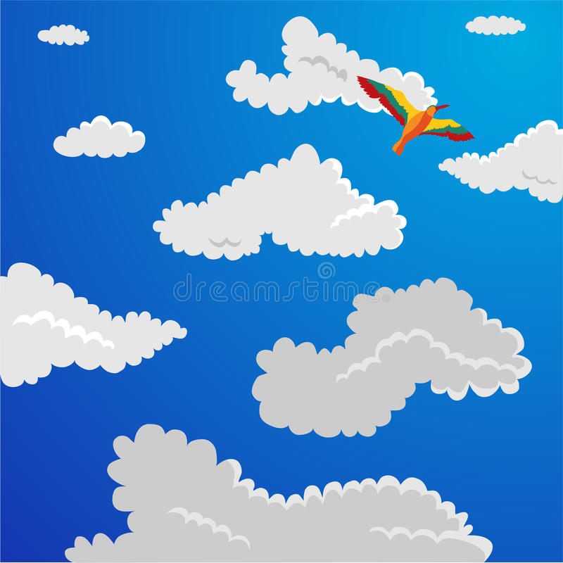Download Fluffy clouds stock vector. Image of image, clouds, parrot - 11391318