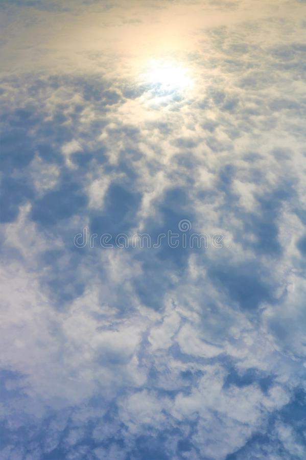 Fluffy Clouds and Bright Skies stock image