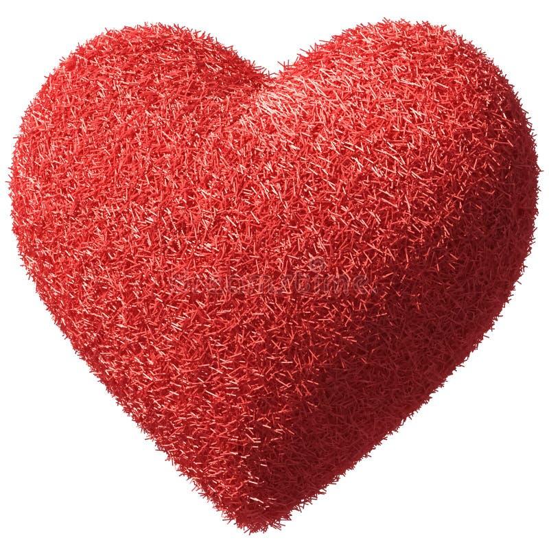 Fluffy furry heart