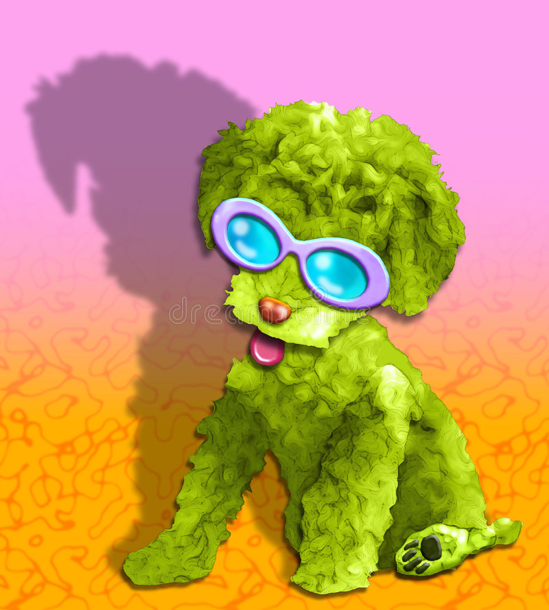 Download Fluffy Green Glamour Pup Royalty Free Stock Photography - Image: 1352317