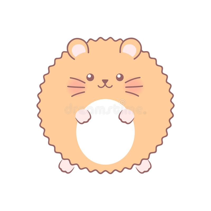 Fluffy hamster. Vector illustration. Isolated on white background royalty free illustration