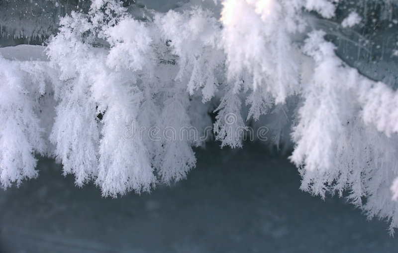 Fluffy Icicles stock images