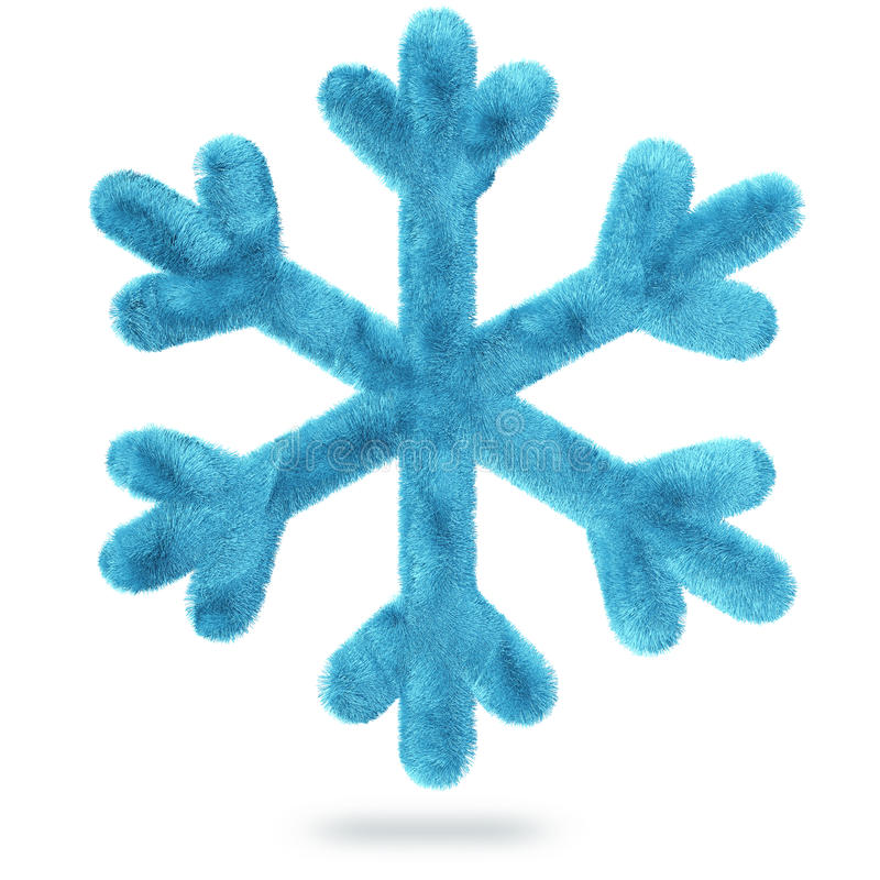 Fluffy snowflake vector illustration