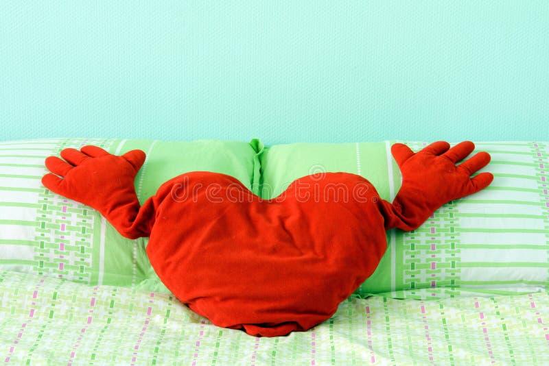 Download Fluffy soft red heart stock image. Image of velvet, valentine - 23279745
