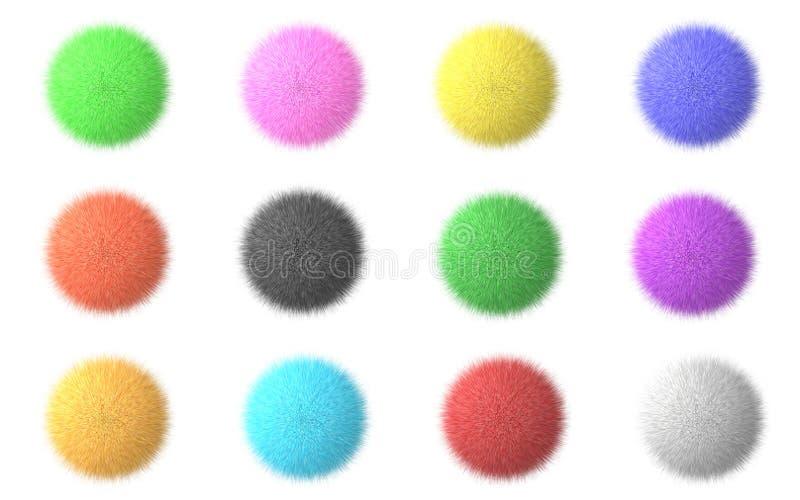 Download Fluffy spheres stock illustration. Illustration of green - 6913631