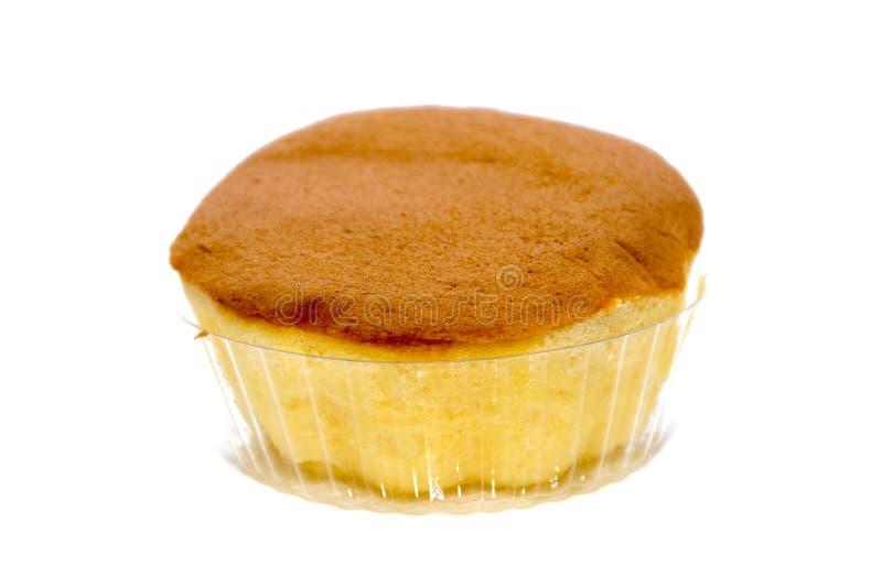 Fluffy Sponge Cake isolated. On white background royalty free stock images