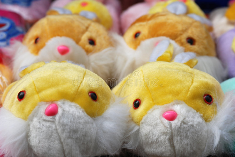 Fluffy Warm Slippers Royalty Free Stock Photo