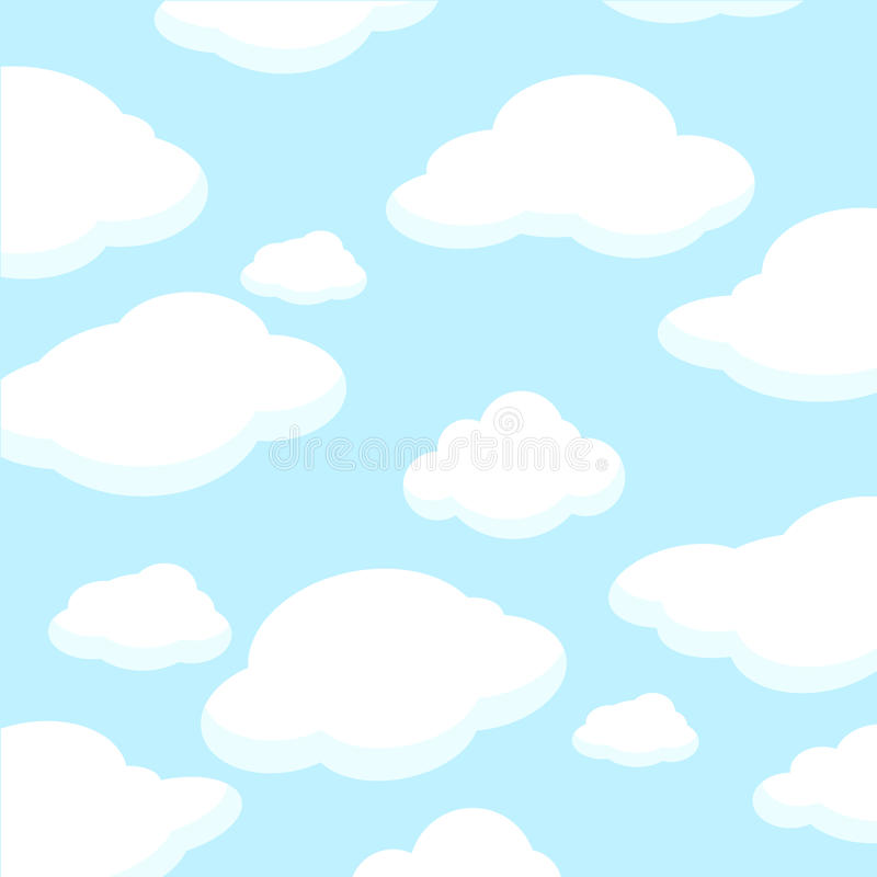 Download Fluffy White Clouds stock vector. Image of nature, warm - 13748355