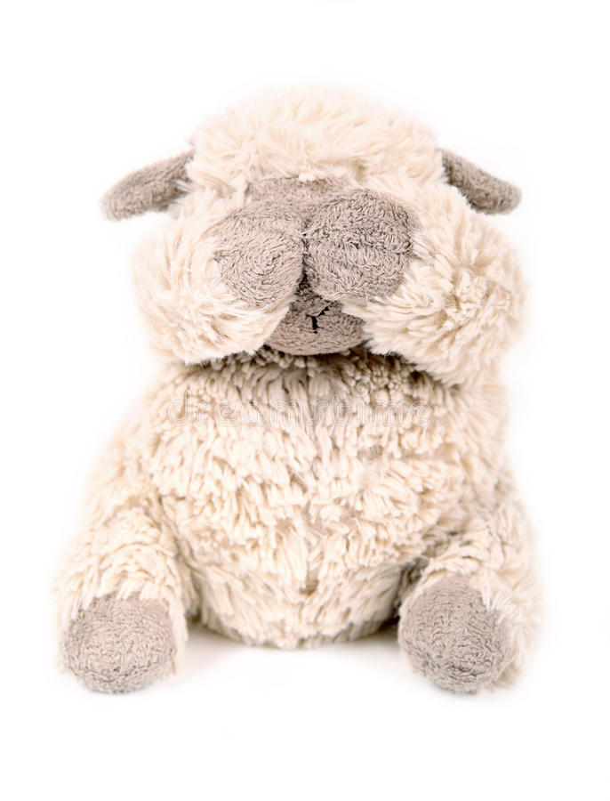 Download Fluffy white toy sheep. stock image. Image of objects - 63864637