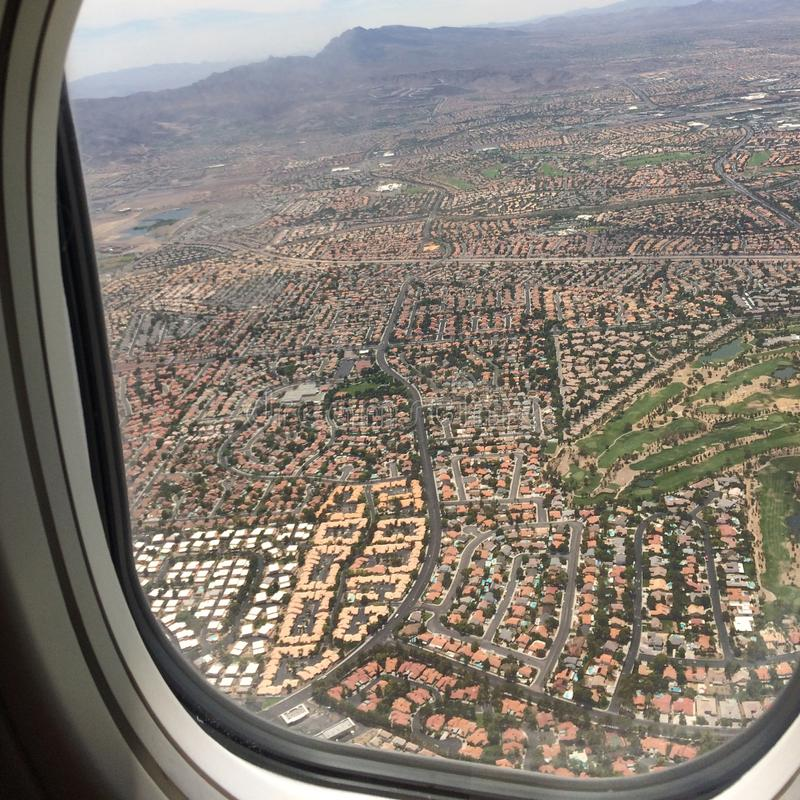 Flug über Las Vegas lizenzfreie stockfotos