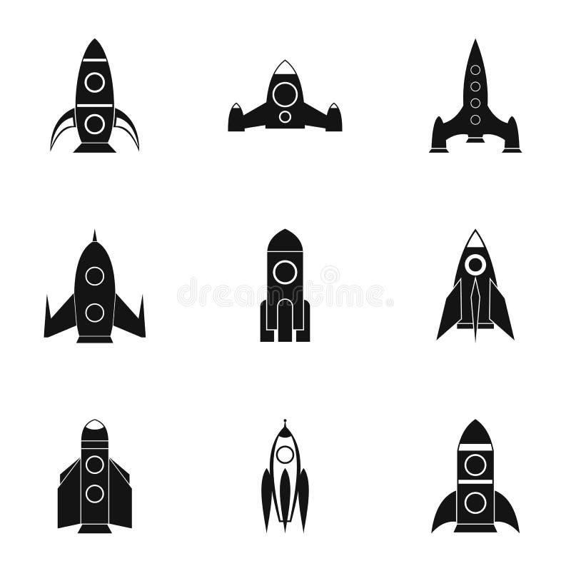 Flug in cosmo Ikonen stellte, einfache Art ein stock abbildung