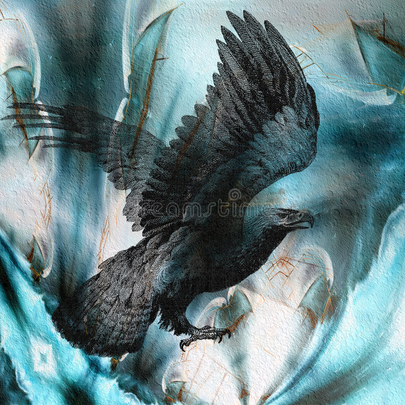 Flug des Adlers lizenzfreie abbildung