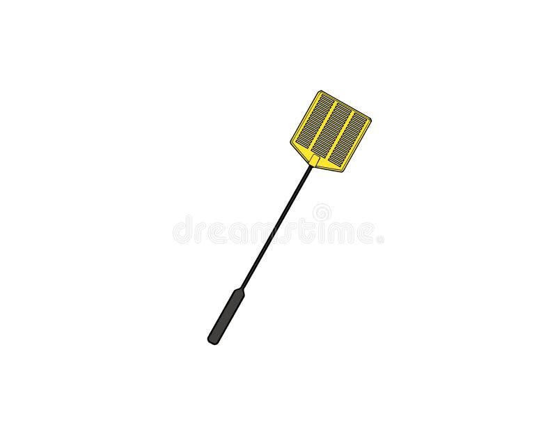 Fluga-dödande apparat - typisk flugsmälla Hem- plast- flyger för att döda också vektor för coreldrawillustration stock illustrationer