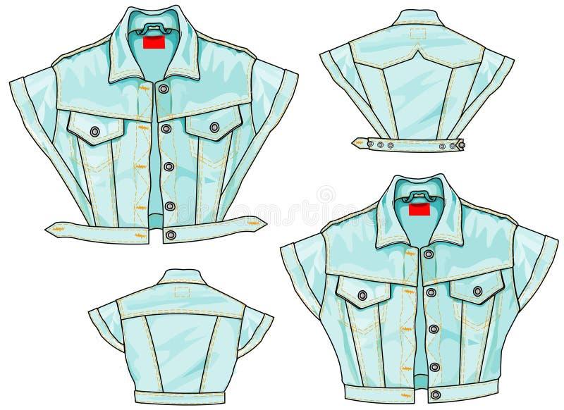 Fluga för jeansomslagsBolero vektor illustrationer