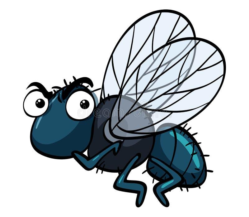 Fluga med den ilskna framsidan stock illustrationer