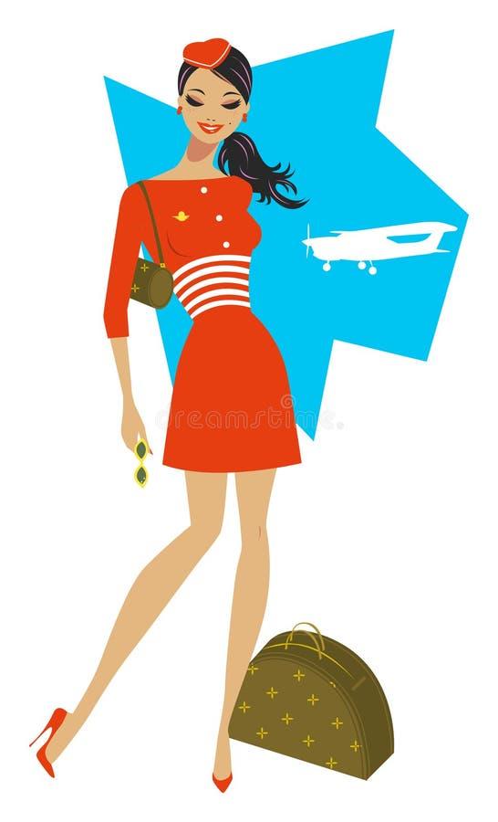 Flugbegleiter stockfotos