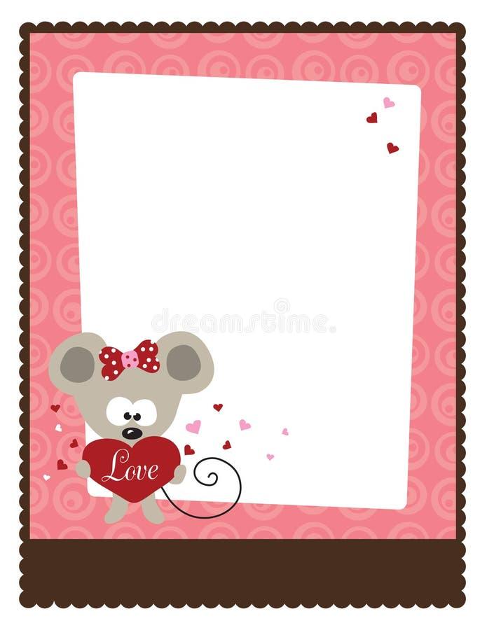 Flugblatt-Schablone des Valentinstag-8.5x11 vektor abbildung