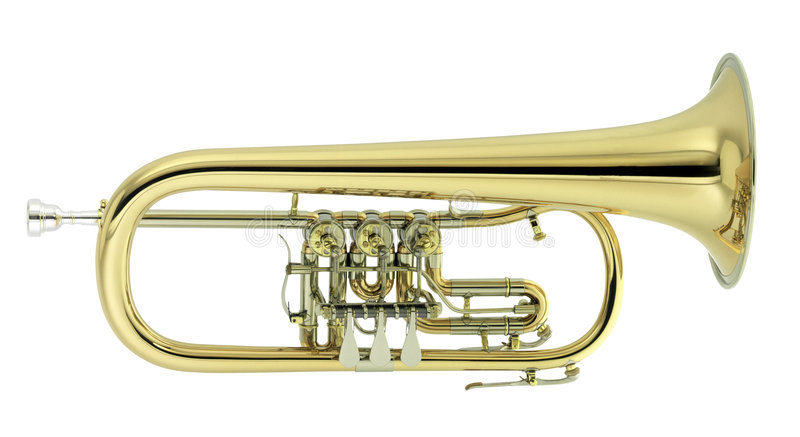 Flugelhorn royalty free stock photos