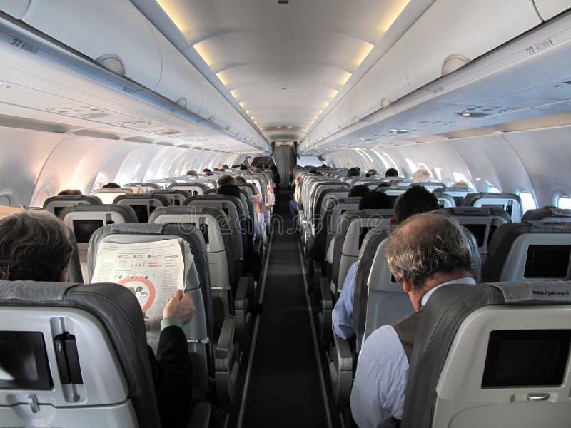 Fluggäste lizenzfreie stockfotografie