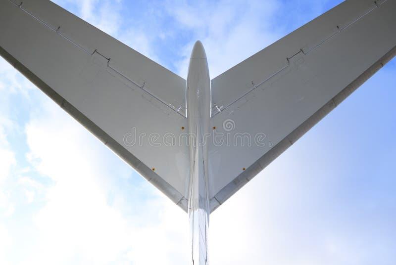 Fluggastflugzeug, Ansicht nach stockfotos