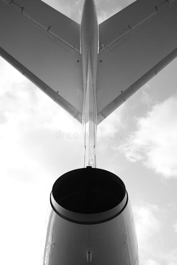Fluggastflugzeug, Ansicht nach stockbild