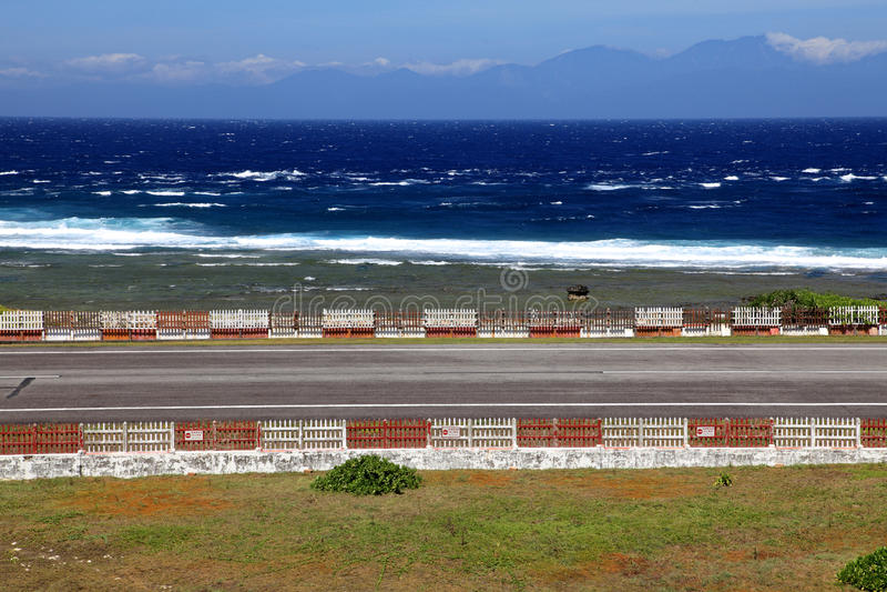 Flughäfen auf der grünen Insel, Taiwan stockbilder