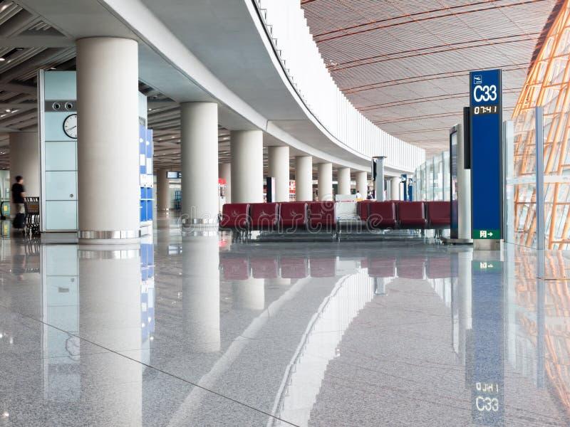 Flughafen-Abflug-Bereich lizenzfreie stockfotografie