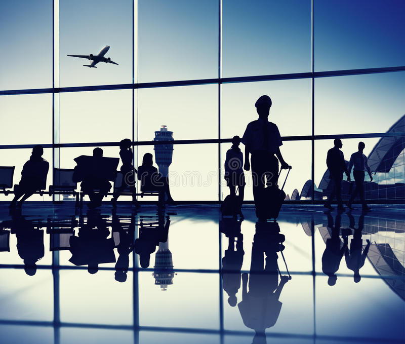 Flughafen-Aufenthaltsraum lizenzfreies stockbild