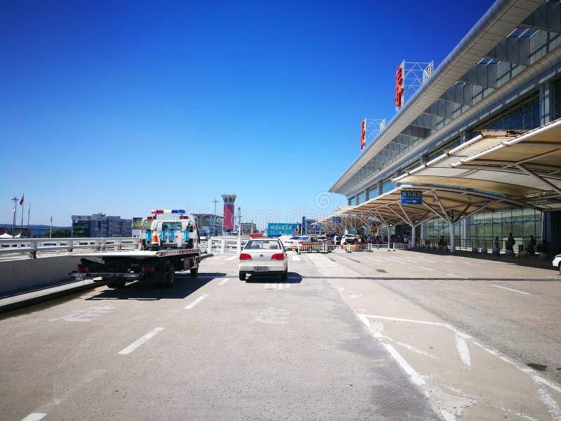 Flughafen Changchuns Longjia an einem sonnigen Tag stockfotos