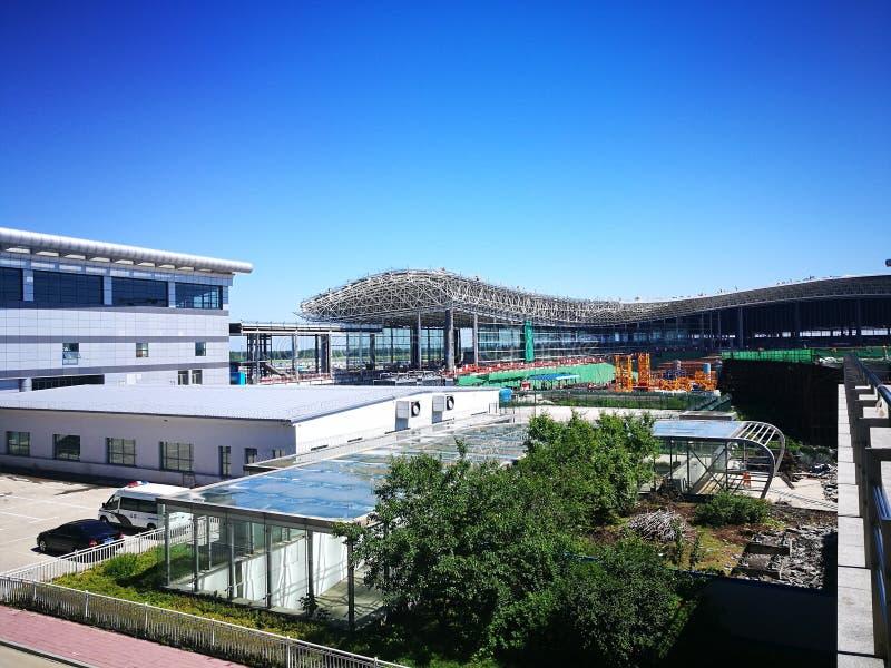 Flughafen Changchuns Longjia an einem sonnigen Tag stockbilder