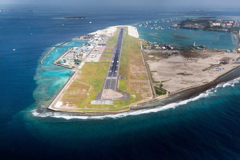 Flughafen des Stadt-Mannes in Malediven-Region lizenzfreies stockbild