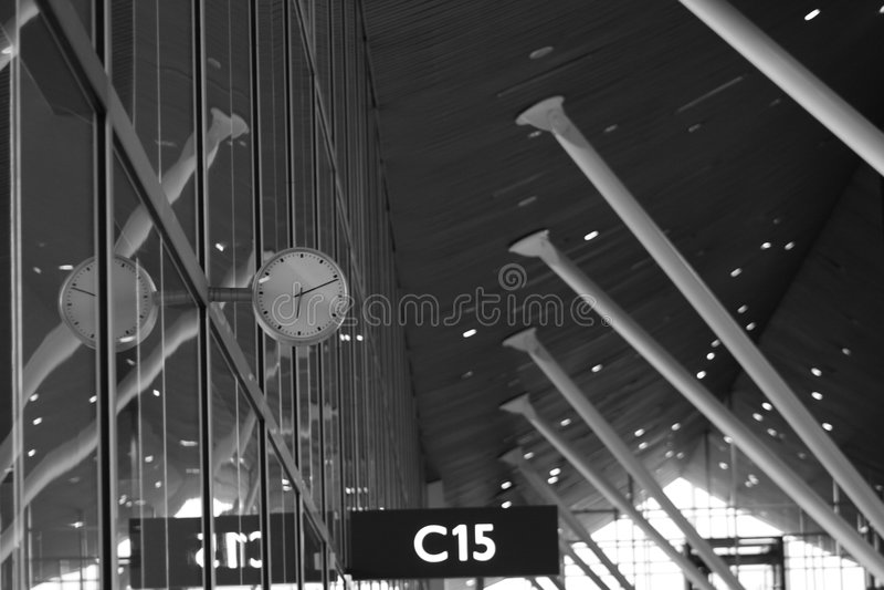 Flughafen-Gatter lizenzfreies stockbild