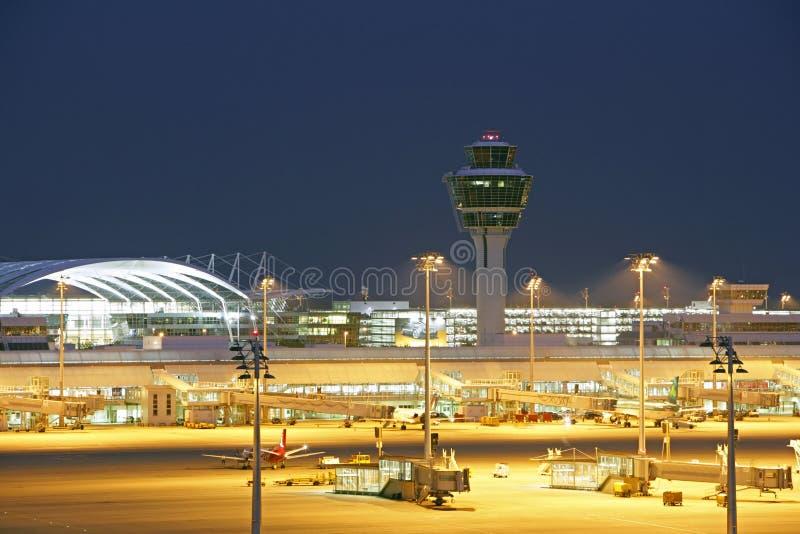 Flughafen München-Franz Josef Strauss stockbild
