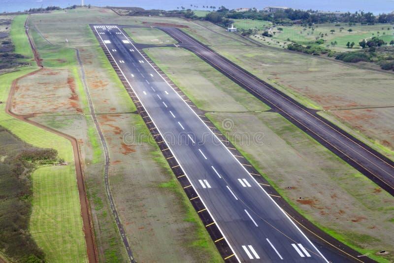 Flughafen-Rollbahn, Lihue, Kauai, Hawaii, USA lizenzfreies stockfoto