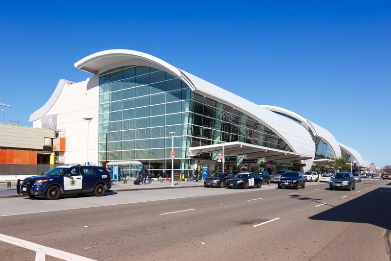 Flughafen San Jose SJC Terminal B stockbilder