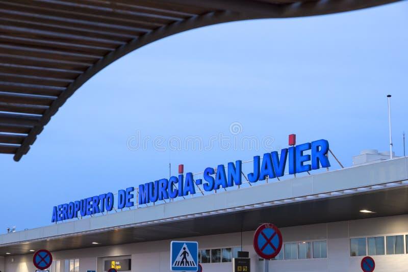 Flughafen Sans Javier in Murcia, Spanien lizenzfreie stockfotografie