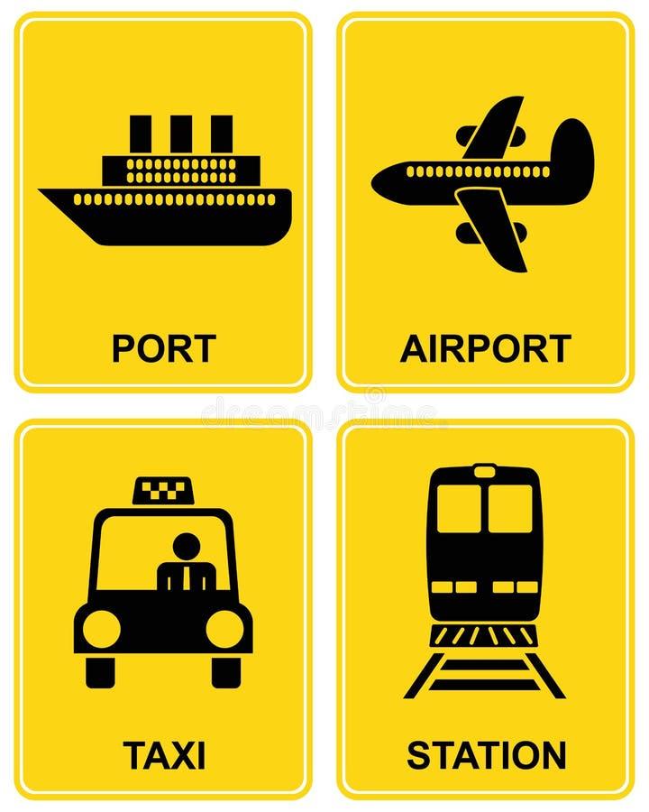 Flughafen, Station, Rollen, Kanal stock abbildung
